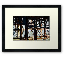 Brighton Pier, the flip side. Framed Print