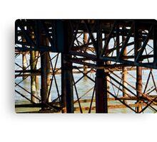 Brighton Pier, the flip side. Canvas Print