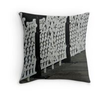 Ironwork of a Victorian kind. Throw Pillow