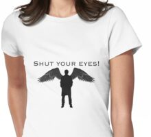 Castiel Shut Your Eyes Womens Fitted T-Shirt