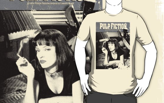 Pulp Fiction DVD Tshirt by kmercury