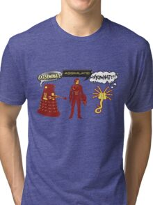 Exterminate, Assimilate, Inseminate! Tri-blend T-Shirt