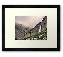 upper yosemite falls Framed Print