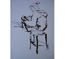 On a stool Photographic Print
