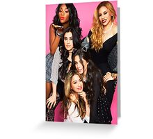 5H Pink Group Photo Greeting Card
