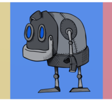 Three Little Robots Sticker