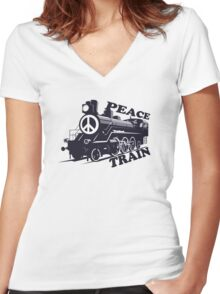 Cat Stevens - Peace Train is coming Women's Fitted V-Neck T-Shirt