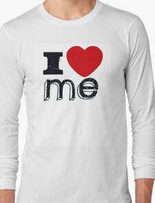 """I love Me"" Slogan Long Sleeve T-Shirt"