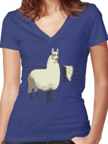 The Dali Llama Women's Fitted V-Neck T-Shirt