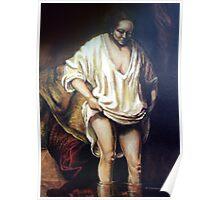 saskia bathing  rembrants wife Poster