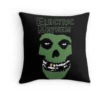 Electric Mayhem Parody Logo Throw Pillow