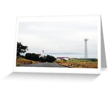 Lighthouse at Fort Worden Greeting Card