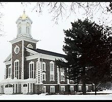 Logan Tabernacle in Winter ~ Logan, Utah by Jan  Tribe