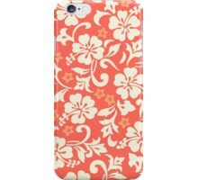 Kapalua Pareau Hawaiian Hibiscus - Coral iPhone Case/Skin