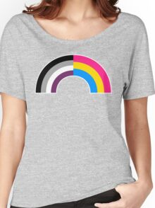 Panromantic Asexual Rainbow Women's Relaxed Fit T-Shirt
