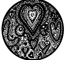 Valentine Circle of Hearts Aussie Tangle Transparent by Heatherian