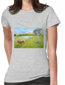 Serenity in the Field Womens Fitted T-Shirt
