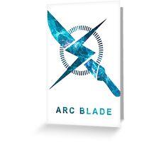 Destiny - Arc Blade Greeting Card