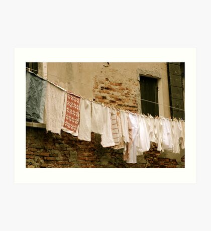 Washing day Art Print