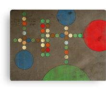 untitled work with circles Canvas Print