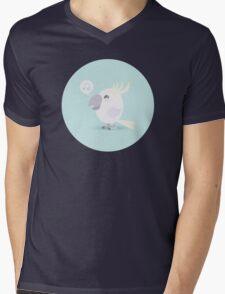 Happy Cockatoo Mens V-Neck T-Shirt