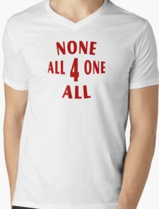All For One None For All Mens V-Neck T-Shirt
