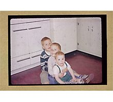 Three brothers in the fifties Photographic Print