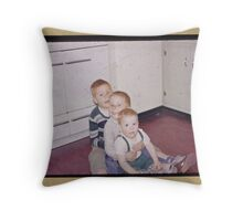 Three brothers in the fifties Throw Pillow