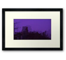 Corfe Castle at Halloween Framed Print