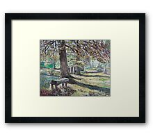 A restfull place in tranquility. Framed Print