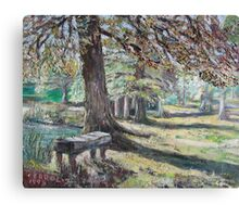 A restfull place in tranquility. Canvas Print
