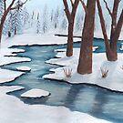 Winter Creek ~ Landscape ~ Oil Painting by Barbara Applegate
