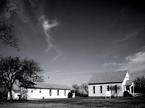 A Country Church With High Clouds Above by Jeffery W. Turner