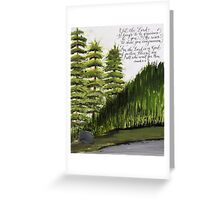 Scripture Isaiah 30:18 calligraphy art  Greeting Card