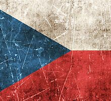 Vintage Aged and Scratched Czech Republic Flag by Jeff Bartels
