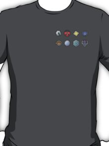 The Johto Gym Badges T-Shirt