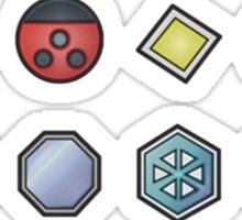 The Johto Gym Badges Sticker