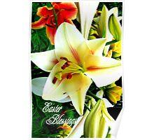Easter Blessings. Poster