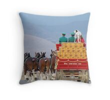 """The Clydesdales"" Throw Pillow"