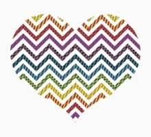 Wild Rainbow Chevron Pattern Kids Clothes