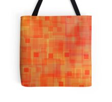 Sunny autumn, abstract art, squares Tote Bag