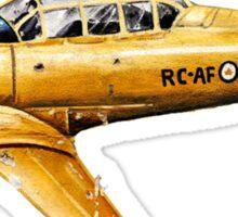 Yellow Plane Naive Art Sticker