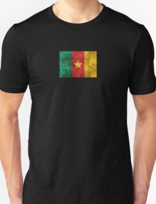 Vintage Aged and Scratched Cameroon Flag T-Shirt