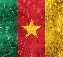 Vintage Aged and Scratched Cameroon Flag by Jeff Bartels
