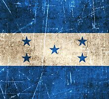 Vintage Aged and Scratched Honduras Flag by Jeff Bartels