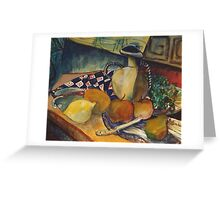 STILL LIFE WITH LEMON(C1994) Greeting Card