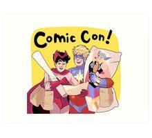 Comic Con! Art Print