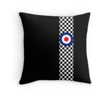 Classic Target Roundel Racing Checkers Throw Pillow