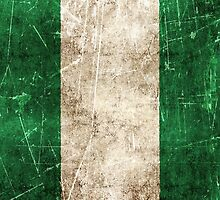 Vintage Aged and Scratched Nigerian Flag by Jeff Bartels