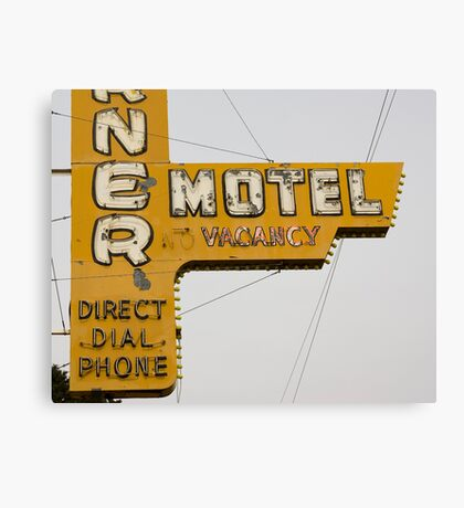Westerner Motel. Canvas Print
